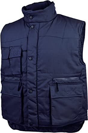 Quilted Bodywarmer Navy Press Studded Front Small