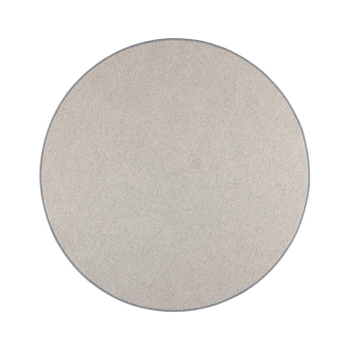 Havatex Schurwolle Teppich Shepherd rund - Farbe wählbar   100% strapazierfähige Naturfaser Wolle   für Wohnzimmer Schlafzimmer Esszimmer Büros, Farbe Grau, Größe 200 cm rund