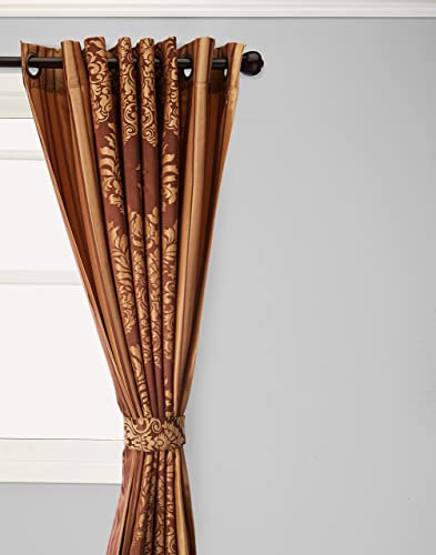 Best Home Fashion Wide Width Damask Jacquard Curtain