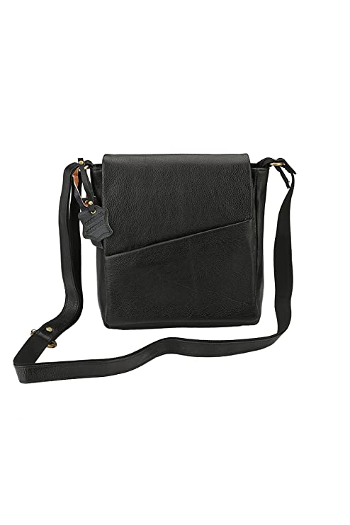 2a1a8914b Buy Carry ME Men's and Women's 26x20x7 cm Black Leather Sling Bag Online at  Low Prices in India - Amazon.in