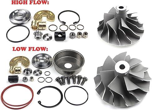 Pulsar Turbo Upgrade Billet Wheel Turbo Cartridge CHRA Center Section for 08-10 6.4L Powerstroke Compound Turbo High Pressure