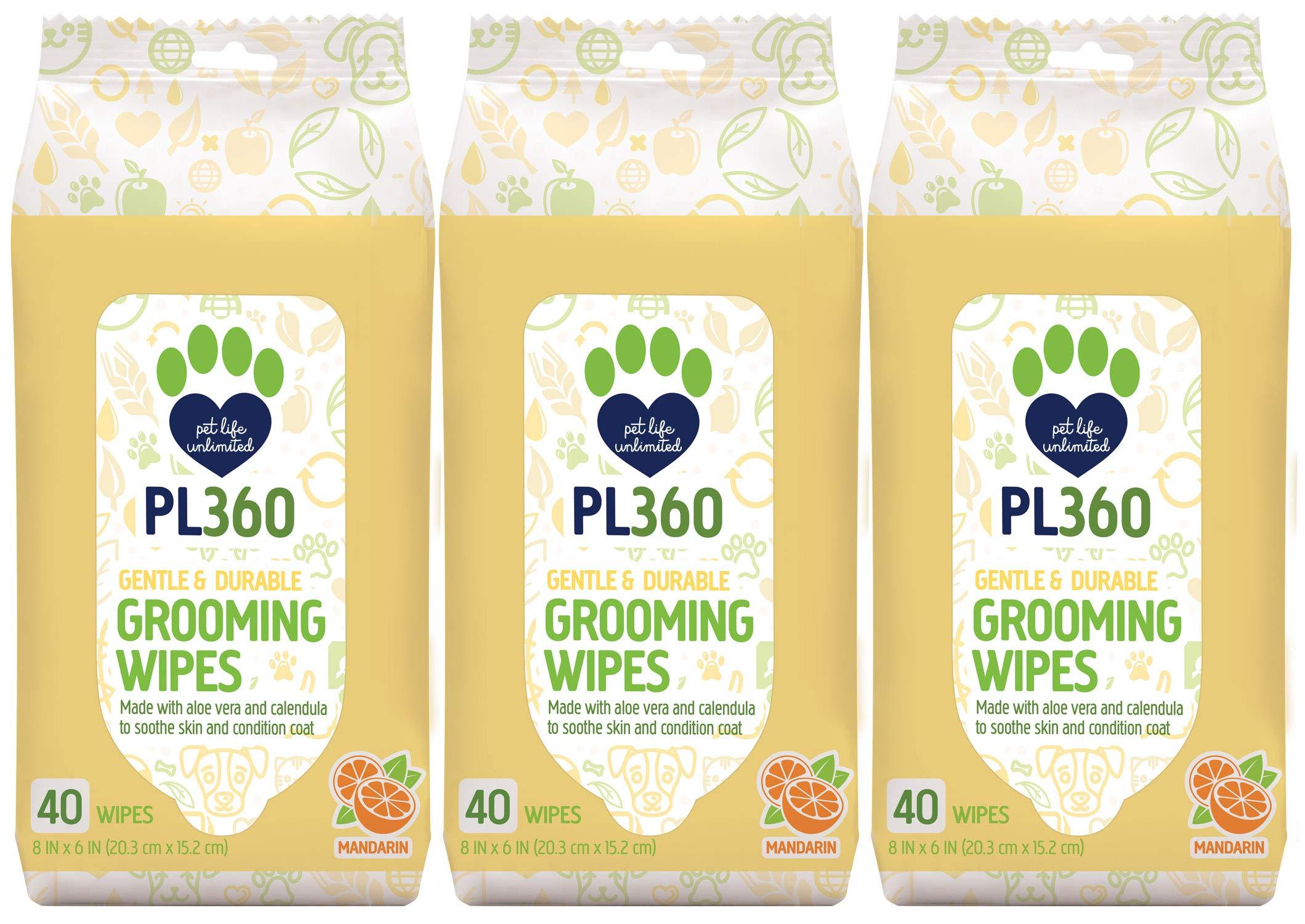 PL360 Dog Grooming Wipes, Mandarin