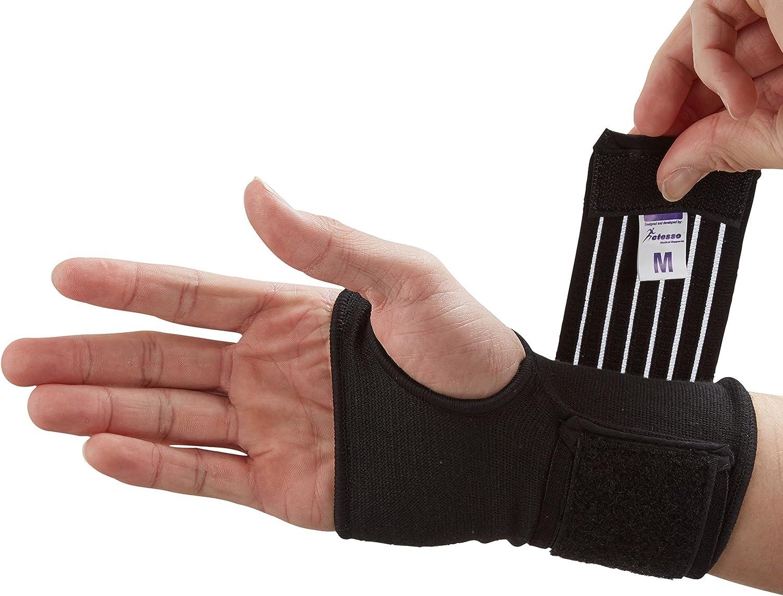 Órtesis Muñequera de Protección de Muñeca Actesso (Negro o Beige) – Soportes para Deportivo, Esquinces y Distensiones (Mediana, Negro)