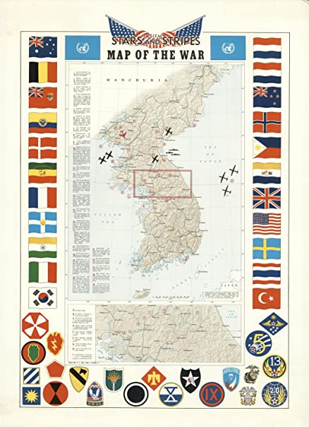 Map Poster - Pacific Stars and Stripes Map of the (Korean) War  - 24