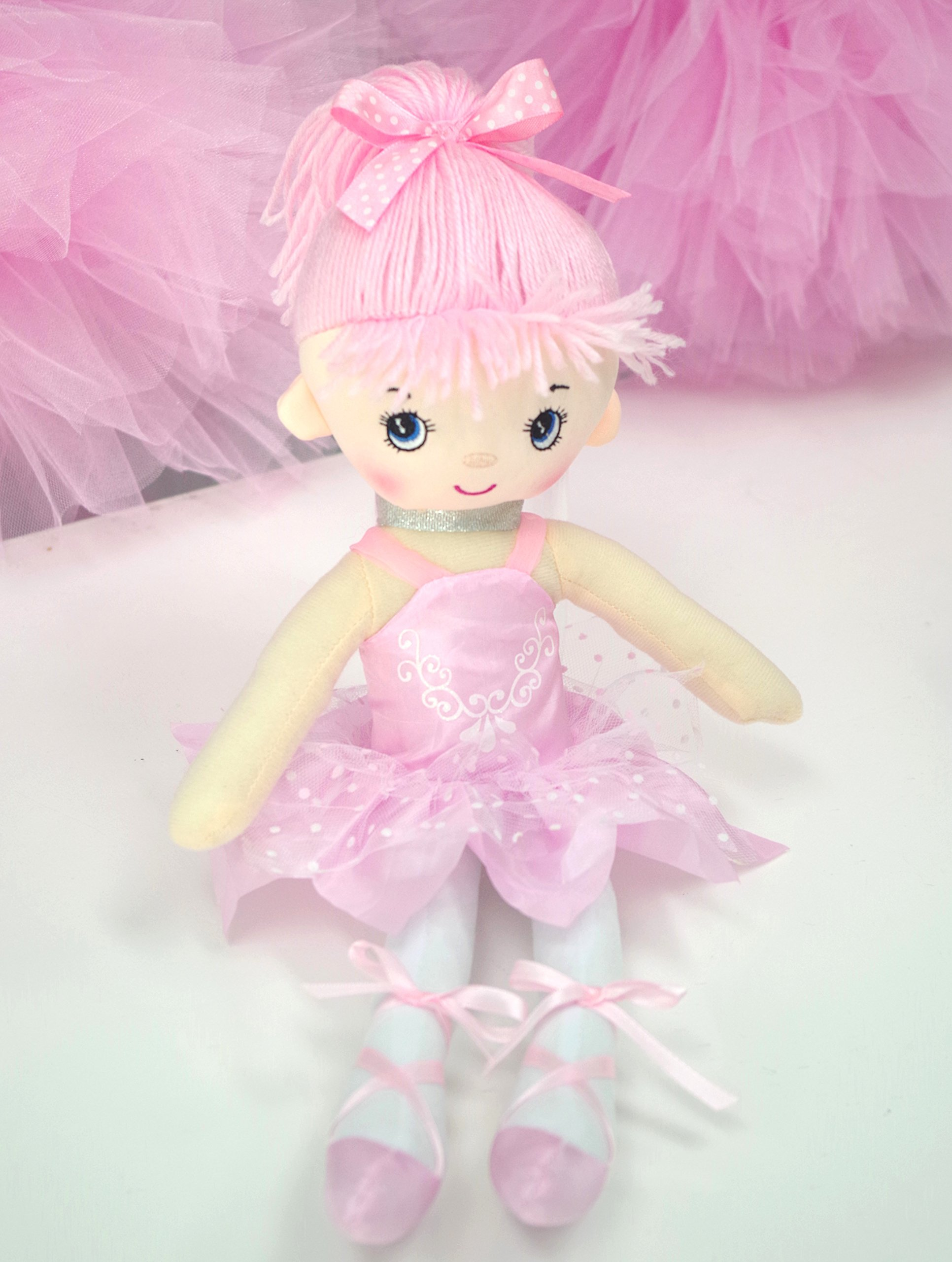 "Butterfly Craze 17"" Ballerina Doll for Little Girls' Ballet Dance Recital and Birthday Gifts (Pink)"