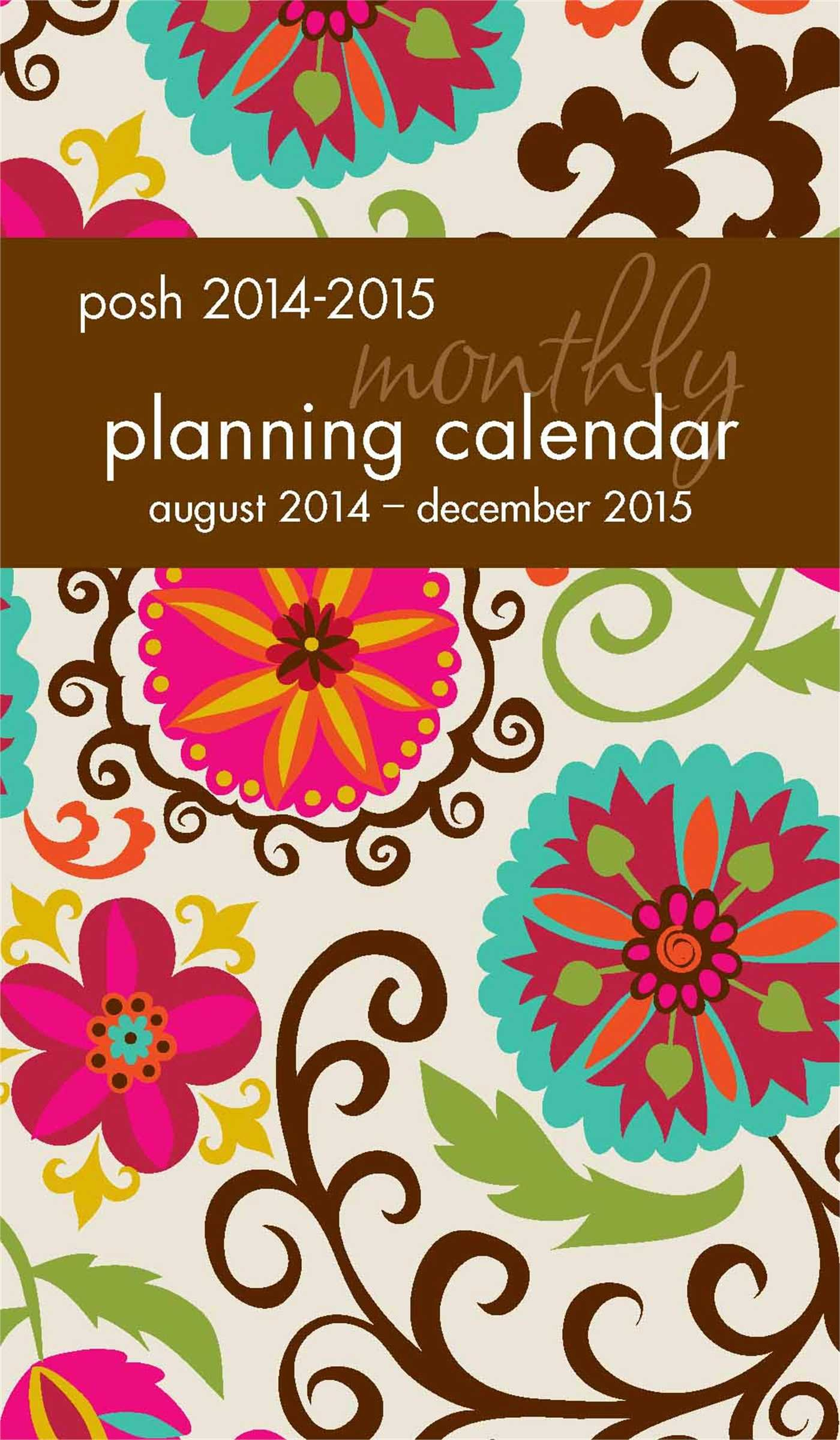 Read Online Posh: Floral Whimsy 2014-2015 Monthly Pocket Planning Calendar ebook