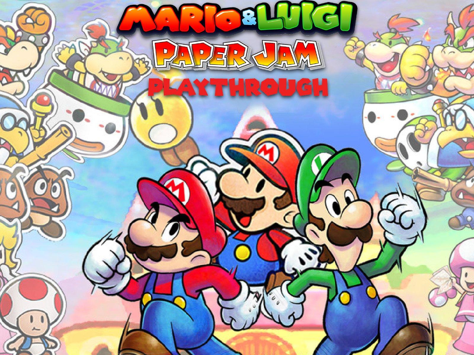 Watch Clip Mario Luigi Paper Jam Playthrough Prime Video