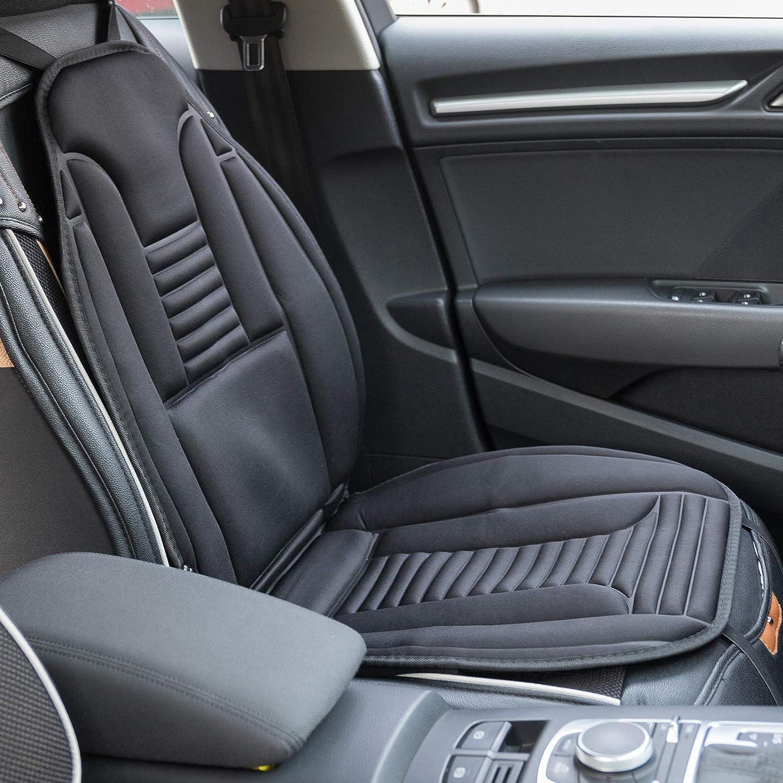 eSituro SHP0007 Auto Heizauflagen Sitzheizung Massage f/ür R/ücken Heizung f/ür Sitz /Überhitzungsschutz Schwarz