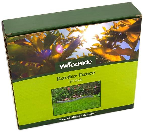 Paneles para bordear canteros/caminos/bordes del césped Woodside, 10 unidades: Amazon.es: Jardín