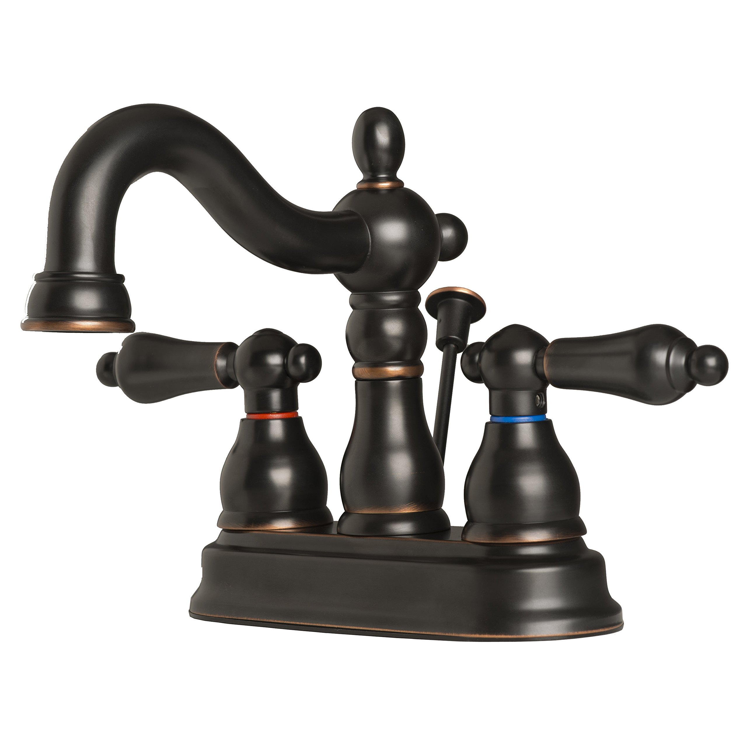 Builders Shoppe 2026TB Two Handle Centerset Lavatory Faucet with Pop-Up Drain Oil Rubbed Bronze Finish
