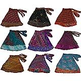 WEVEZ Short Size Two Layer Reversible Wrap Around Art Skirts