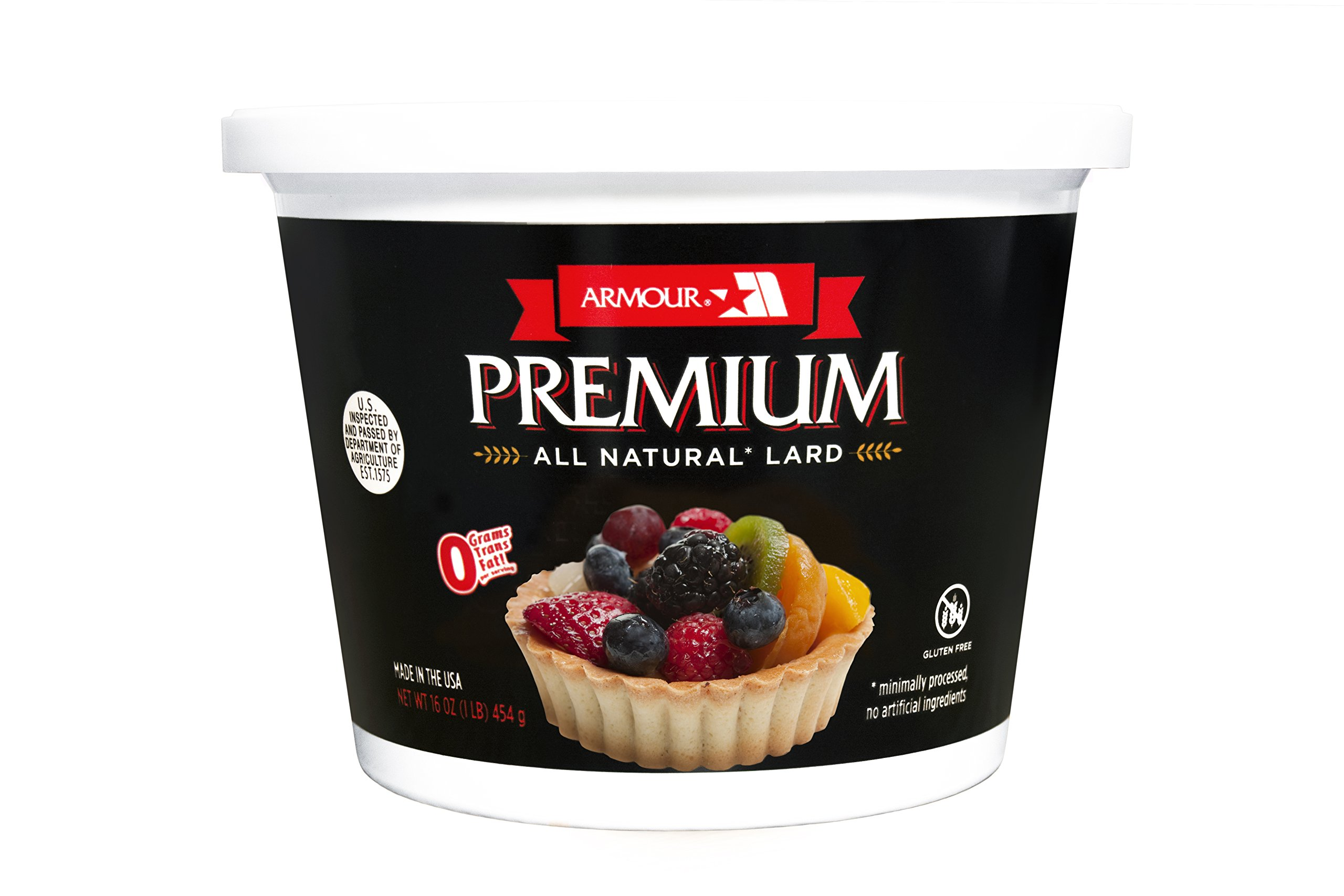 Premium All Natural Lard - 1 lb. Tub