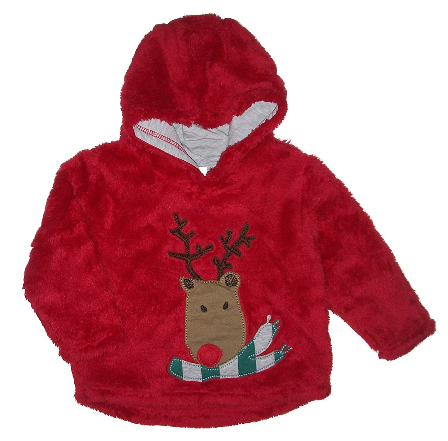 cc1ac1c53 Baby Boy Girl Furry Fleece Reindeer Hoody Age 18 24 Months Christmas ...