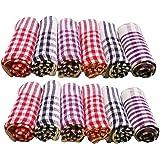 sgr Ninki Fresh Cleaning Cloth\Towel Multipurpose Kitchen Napkin (15x15 Inch, Standard Size) -Pack of 12