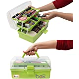 Kurtzy Multi Storage Box 3 Layer Compartment Tools, Medicine, Cosmetic, Garage Kit Pack of 1 Green