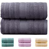 "Jml Bamboo Bath Towels | 2 Piece Luxury Bath Towel Set for Bathroom(27""x54"") Antibacterial and Hypoallergenic, Soft and Absorbent, Odor Resistant, Skin Friendly(Grey)"