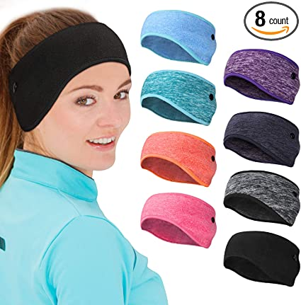 2 Pack Fleece Headband Sweatband EarMuff Ear Cover Warm for Ski Cycling US STOCK