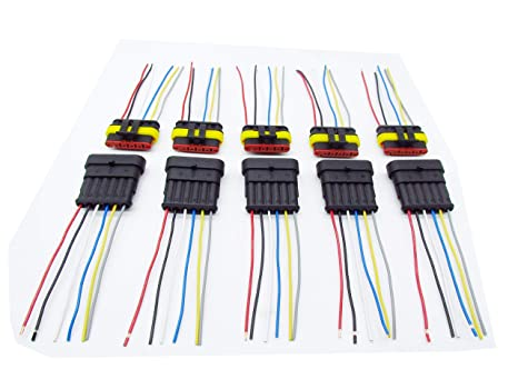 amazon com cnkf 5 sets 6 pin amp male female superseal car Car Stereo Wiring