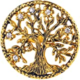 3149a7f94 U7 Brooch Women Men Stainless Steel Tree of Life Design Round Lapel Stick  Pin for Hat