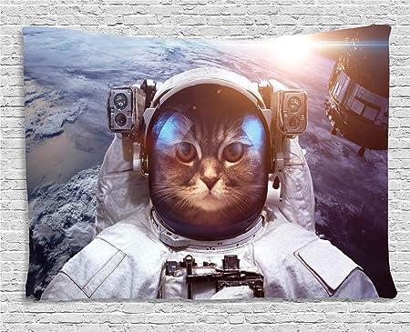 ABAKUHAUS Gato Tapiz de Pared, Espacio Eclipse Satélite, para el ...