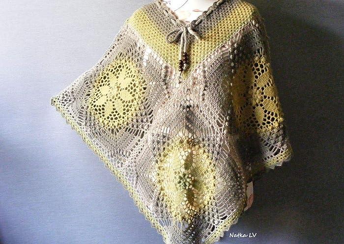 Amazoncom Wool Poncho Women Crochet Poncho Boho Poncho Bohemian