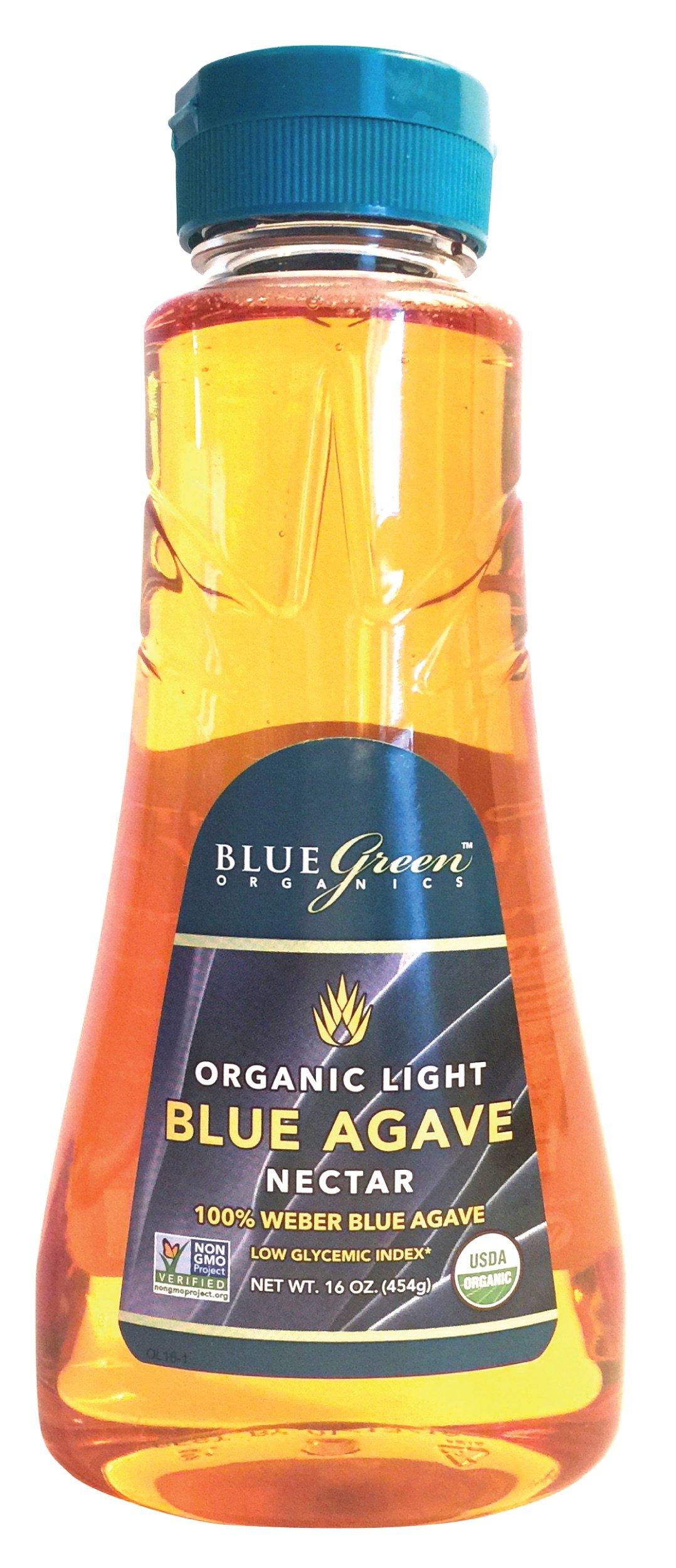 Blue Green Agave Organic Nectar, Light Blue, 16 Ounce