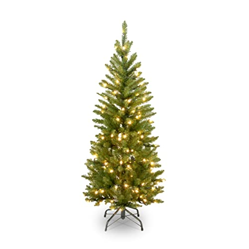 national tree 45 foot kingswood fir pencil tree with 150 clear lights kw7 300