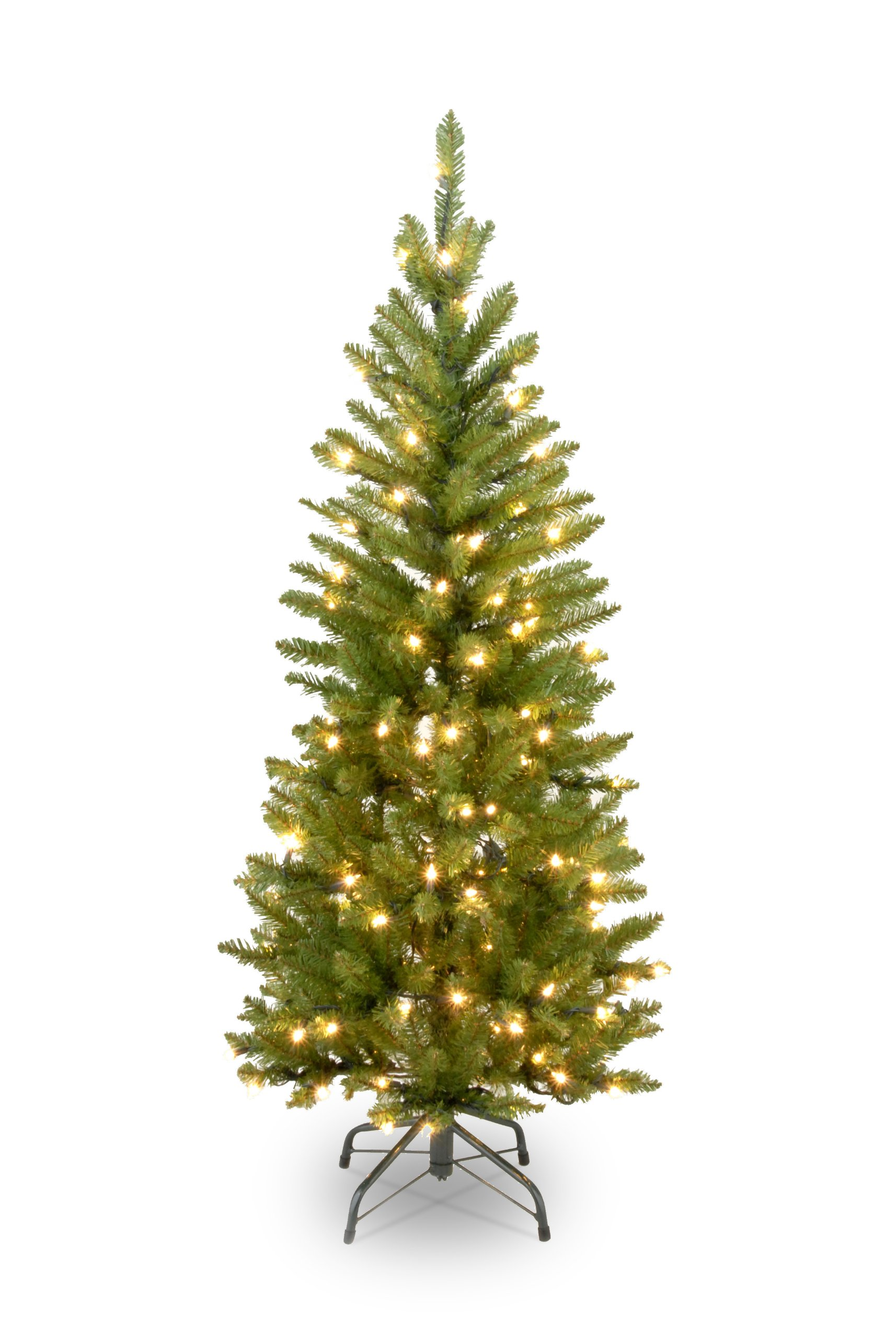 National Tree 4.5 Foot Kingswood Fir Pencil Tree with 150 Clear Lights (KW7-300-45)
