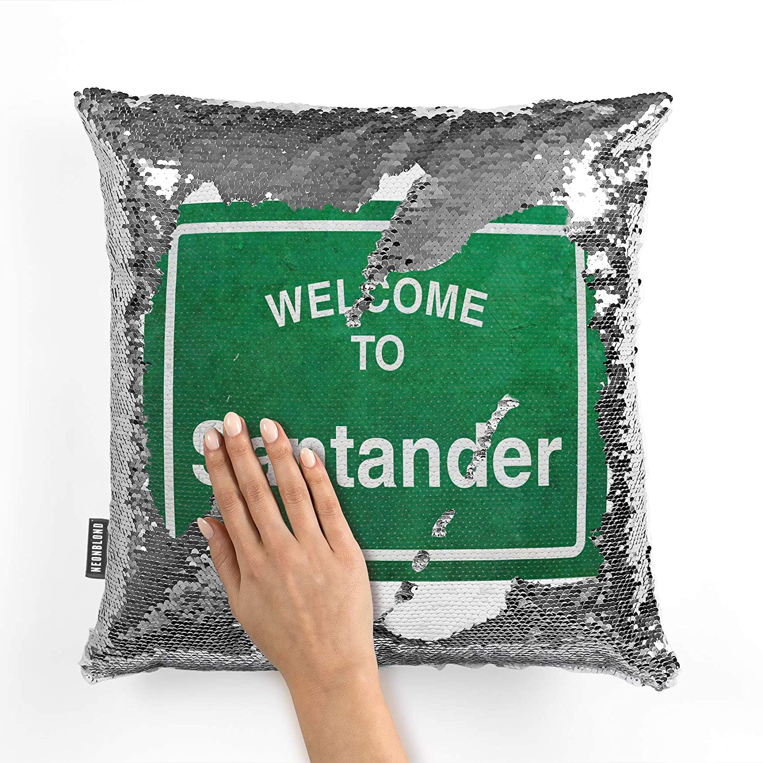 Amazon.com: NEONBLOND Mermaid Pillow Cover Green Road Sign ...