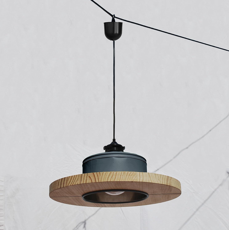 Lámpara de techo hecha a mano, en color gris antracita mate ...