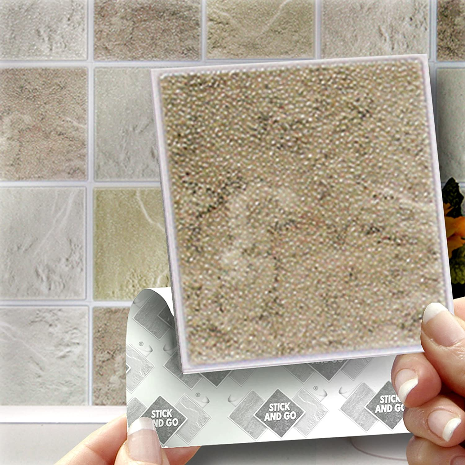 18 COTSWOLD MIX EFFECT WALL TILES - 2mm Thick and solid Self ...