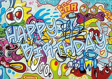 3 unidades a6 tarjetas postales tarjeta cumpleaos tarjeta de cumpleaos graffiti happy birthday