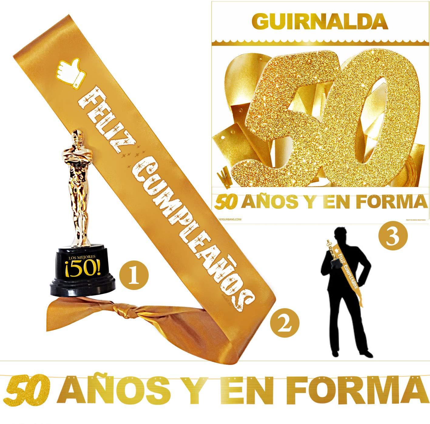 Inedit Festa - Fiesta Feliz 50 Cumpleaños - Guirnalda ...
