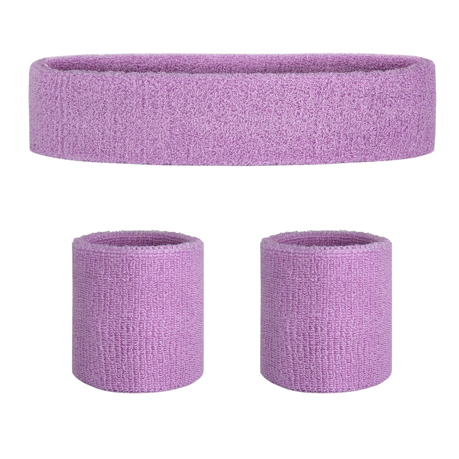 Meanch Sweatband Headband/ Wristband Perfect for Basketball Running Football