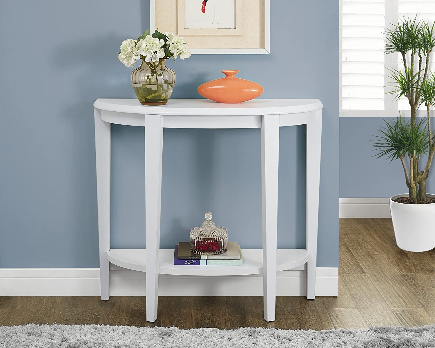 Amazon monarch specialties white hall console accent table amazon monarch specialties white hall console accent table 36 inch kitchen dining geotapseo Image collections