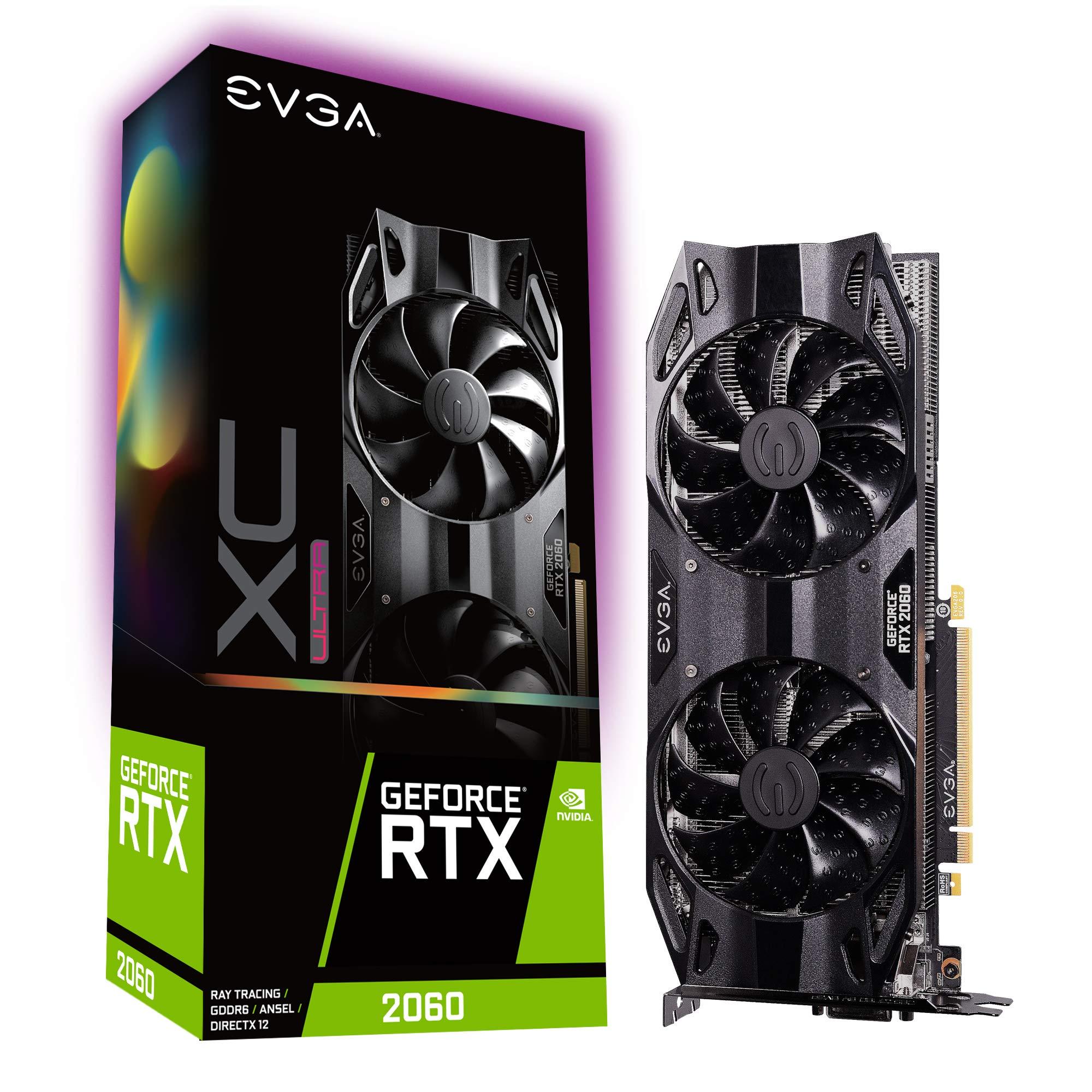 EVGA GeForce RTX 2060 XC Ultra Gaming, 6GB GDDR6, Dual HDB Fans Graphics Card 06G-P4-2167-KR