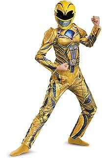 Power Ranger Movie Deluxe Costume Yellow Small 4 6X