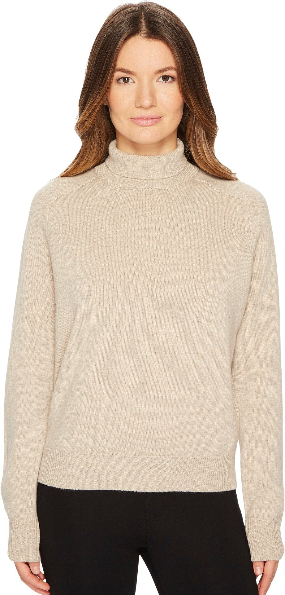Vince Women's Saddle Turtleneck Tan/Khaki Medium by Vince
