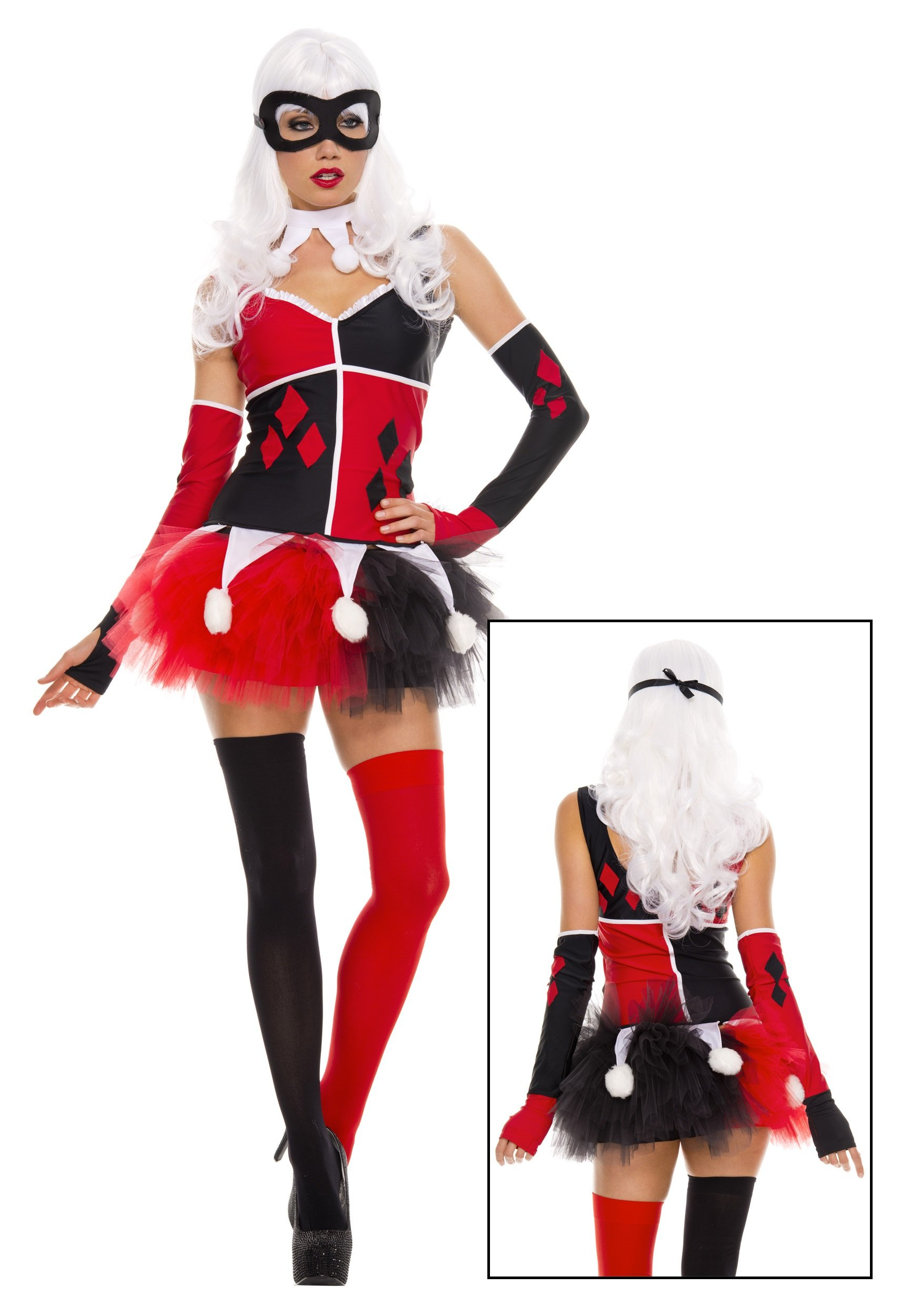 Harley Jester Costume - Small/Medium - Dress Size 2-8