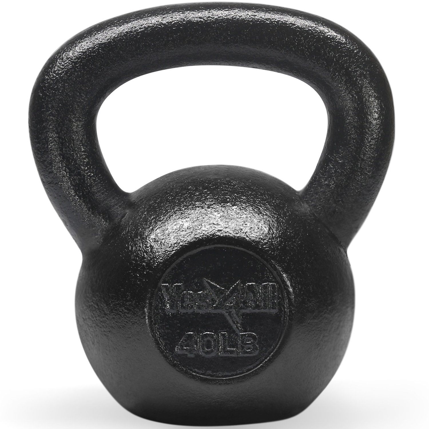 Yes4All Solid Cast Iron Kettlebells – Weight Available: 5, 10, 15, 20, 25 to 80 lbs (K - Black 40lb)