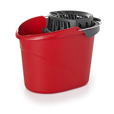 O-Cedar 148161 EMW1571124 QuickWring Bucket with Wringer, 2.5 Gallons, 2.5 gal, Red