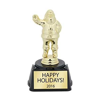 holiday party trophy santa trophy christmas party trophy christmas trophy white elephant - White Elephant Christmas Party