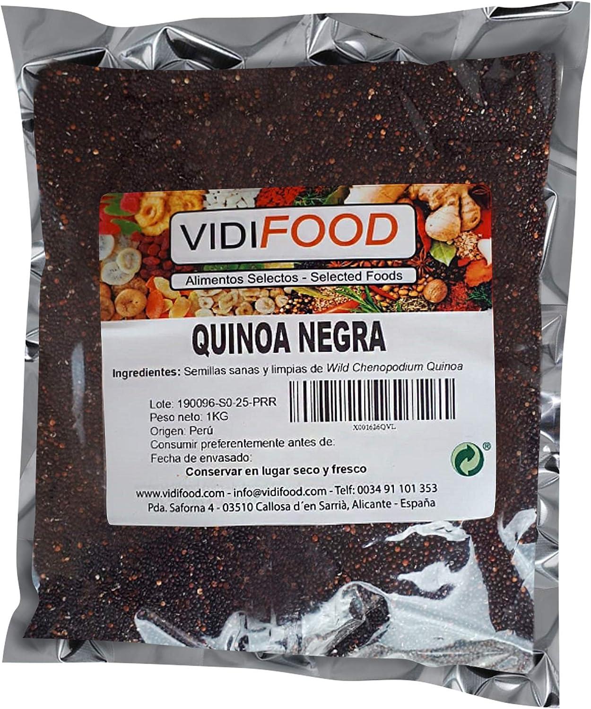 Quinoa Negra - 1kg - Fuente Rica de Aminoácidos, Vitaminas y Minerales - 100% Natural y Sin Toxinas