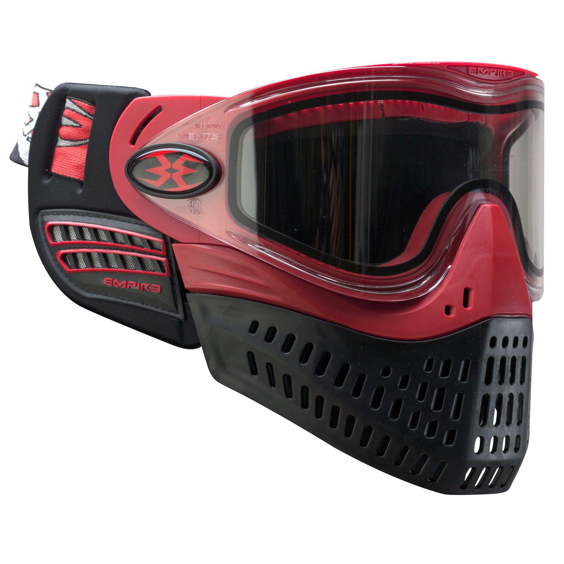 Empire Paintball e-Flex Goggle, Red