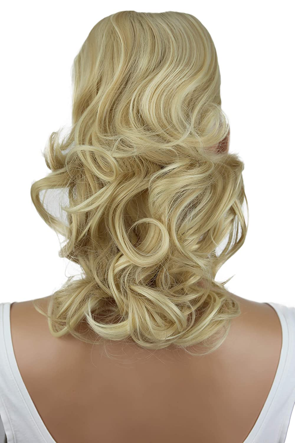 PRTTYSHOP Hair Piece Pony Tail Extension Draw String Voluminous Curly Heat-Resisting 14 light brown mix # 6T27 PH212 PRETTYSHOP