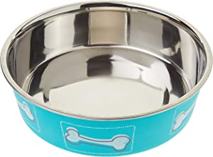 Loving Pets Coastal Bella Bowl for Dogs, Large, Aqua Sea