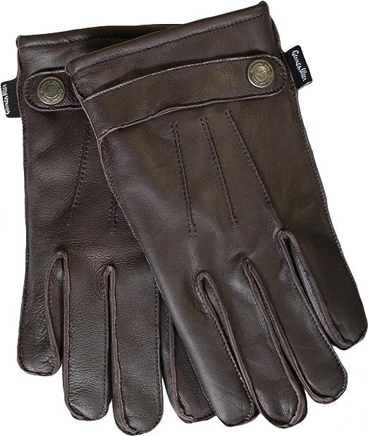 Damen Lederhandschuhe Handschuhe Lammnappa echtleder Lamm-Nappaleder schwarz