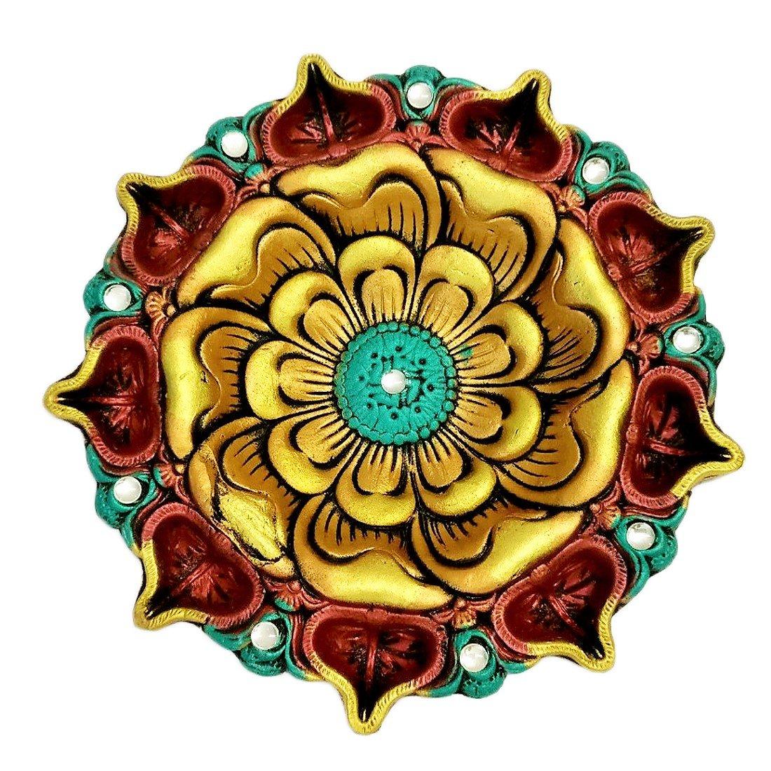 Ramya's Handcrafted Extra Large Diwali Diya Plate (7023)