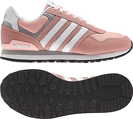 adidas 10K W - Zapatillas Deportivas para Mujer, Rosa - (CORNEB/FTWBLA/Plamat) 42 2/3: Amazon.es: Deportes y aire libre