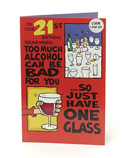 Amazon Funny Alcolhol 21st Birthday Card Pop Out